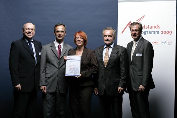 Preisverleihung: Die ESolutions GmbH ist Hauptpreisträger des Mittelstandsprogramms 2009!